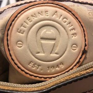 Etienne Aigner tan Canvas Handbag
